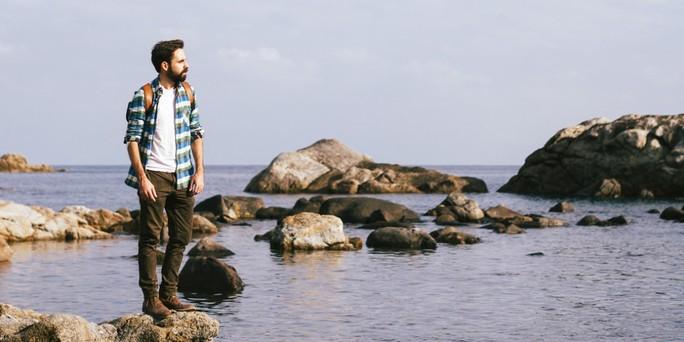 Men in shore