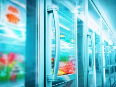 supermarket freezer section