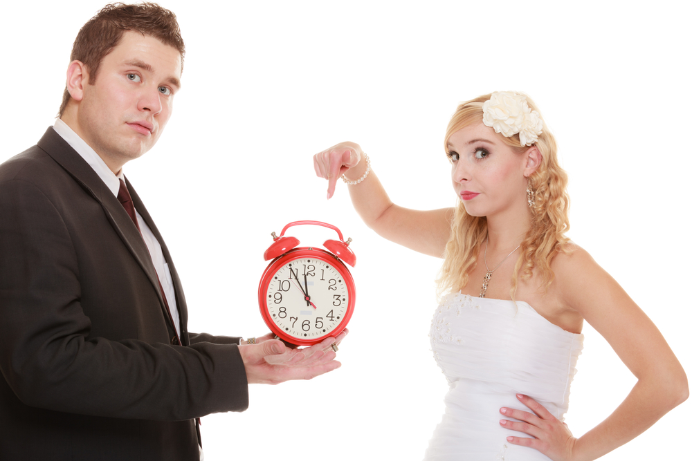 man under time pressure of marriage