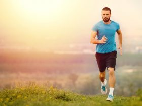 healthy man who uses Progentra taking a run outdoors