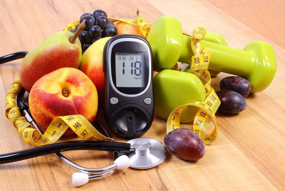 diabetes, healthy food, and fitness